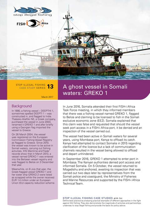 A ghost vessel in Somali waters: GREKO 1